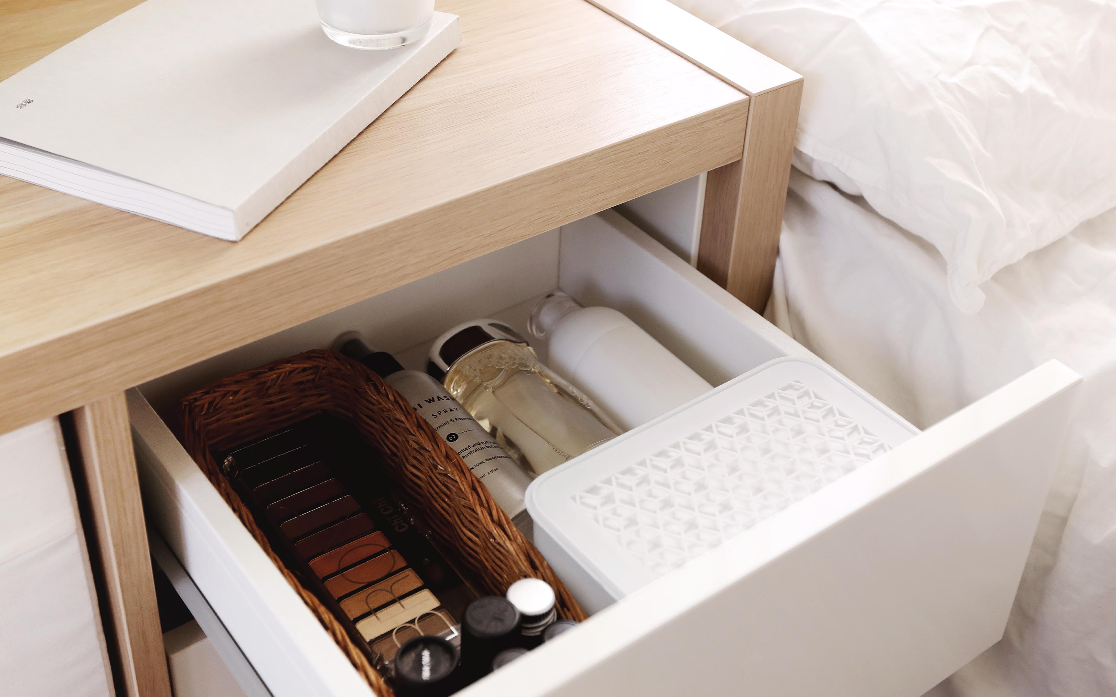 新式裸白克潮靈適用於收納空間