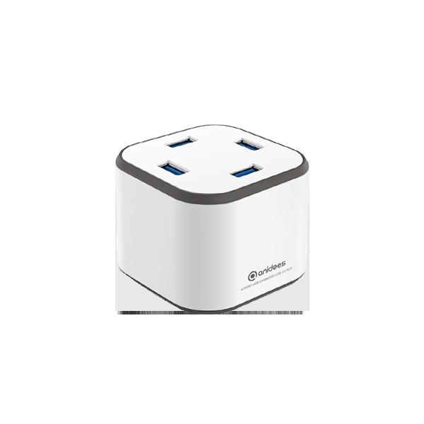 AI-CUBE 4USB充電傳輸供應器 - 白色