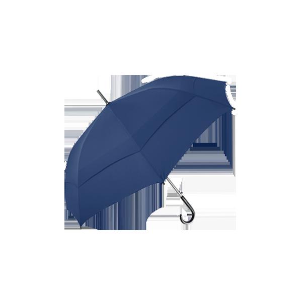 雙層抗風直骨傘 27吋 (藍)