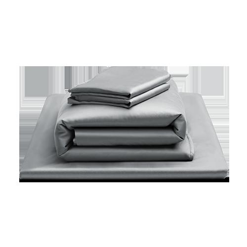 放空天絲床包四件組含鋪棉兩用被(暖灰 標準單人)
