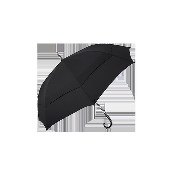 雙層抗風直骨傘 27吋 (黑)