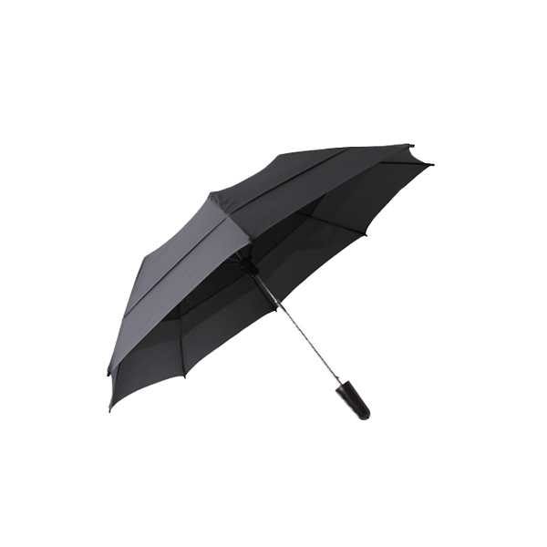 雙層抗風折疊傘 21吋 (灰)