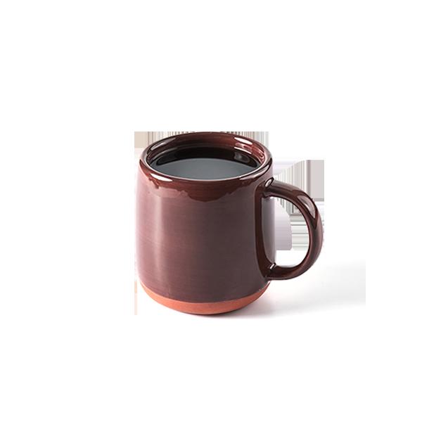 紅陶釉燒馬克杯 (刷釉棕)