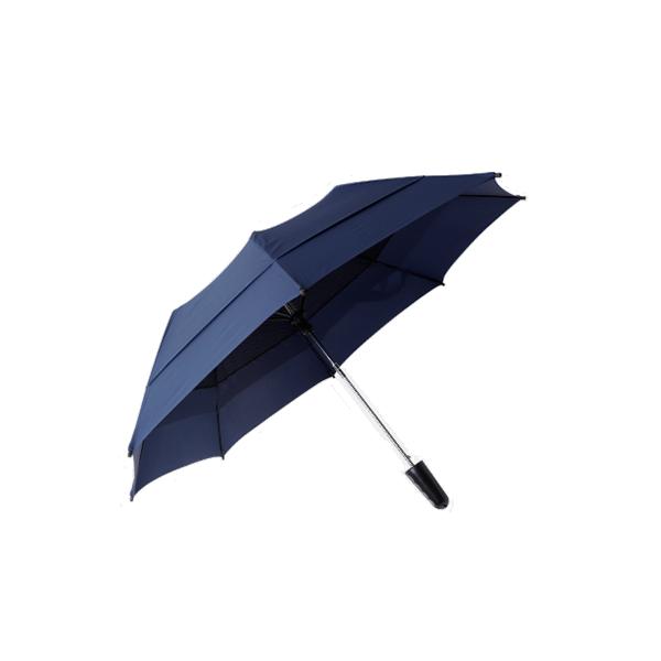 雙層抗風折疊傘 21吋 (深藍)