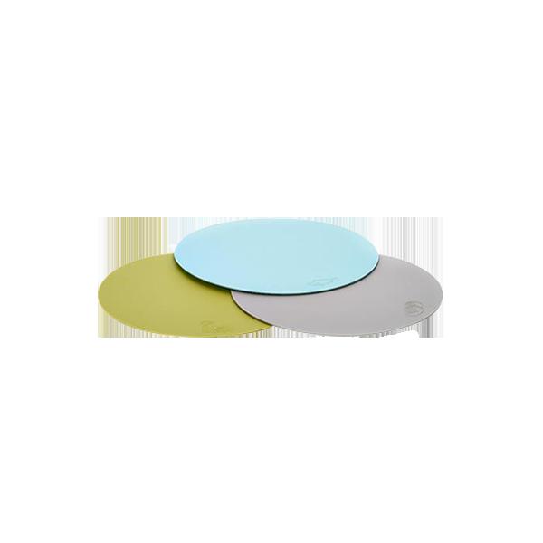 薄型切菜板三片一組 (藍海鮮、綠蔬菜、灰麵包)