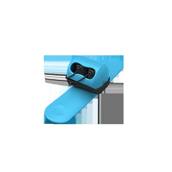 線路不糾結 一拍即收|Snappy耳機捲線器 (晴空藍)