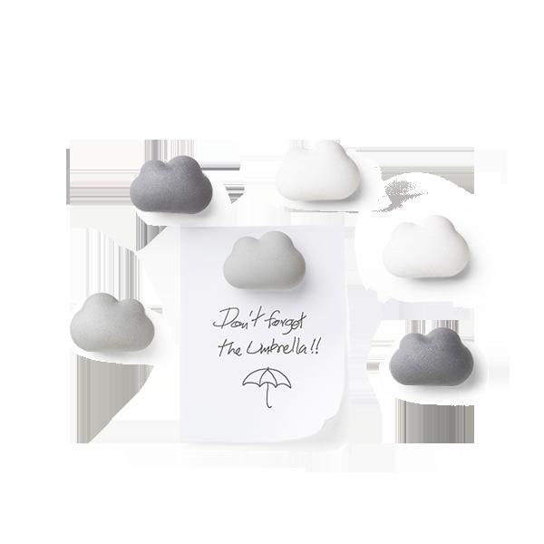 朵朵雲兒-磁鐵 (黑灰白)