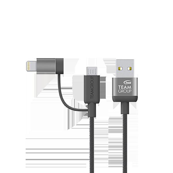 iOS & Android 二合一接頭20cm傳輸充電線 WC06