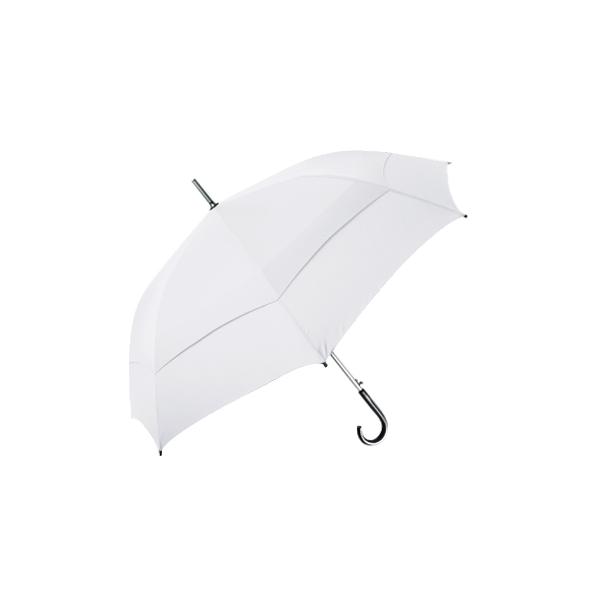 雙層抗風直骨傘 27吋 (白)