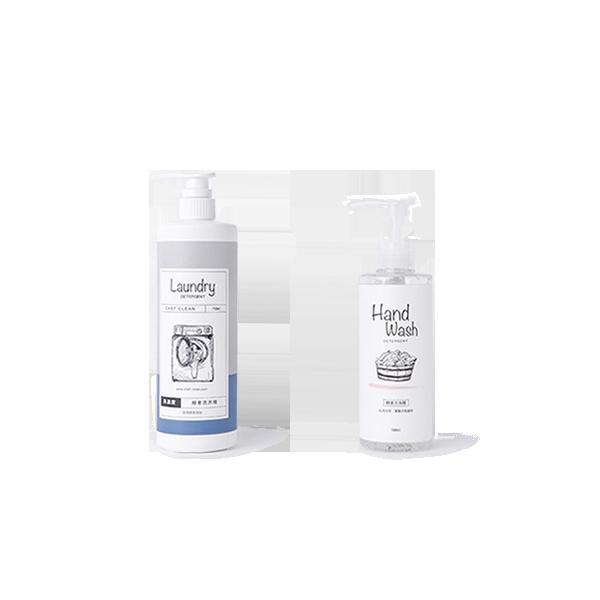 酵素洗衣精(無香) 1入+酵素手洗精 1入