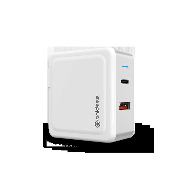 充筆電 / iphone 63W PD3.0 / QC3.0  2孔快充器(摺疊頭)