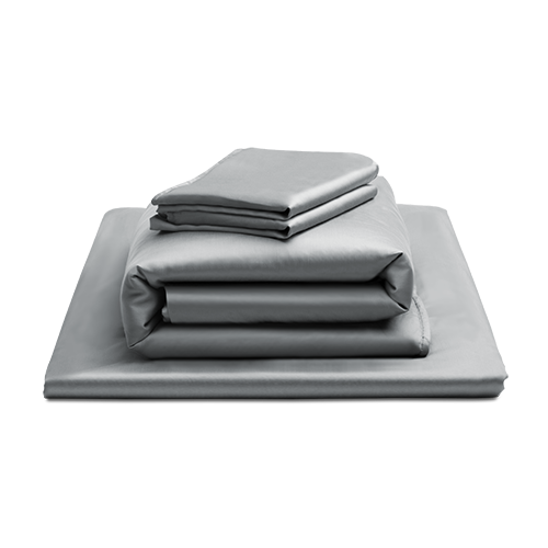 放空天絲床包四件組含鋪棉兩用被(暖灰 標準雙人)